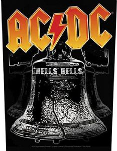 AC/DC Hells Bells jumbo sized sew-on cloth backpatch  (ro)
